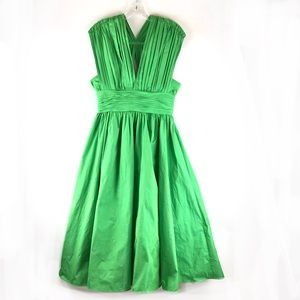 Tracy Reese Kelly Green Shirred Frock 4